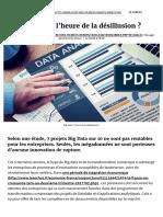 Big Data _ l'Heure de La Désillusion