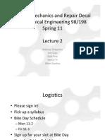 Bicycle Mechanics and Repair - Lecture2