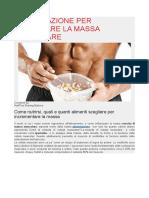 Alimentazione Per Aumentare La Massa Muscolare