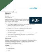 Publication Avis de Vacance Administrative Assistant (Travel) GS 5