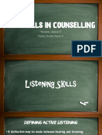 Skills in Counselling