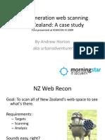 Next Generation Web Scanning