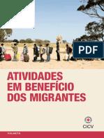Atividades em benefício dos migrantes