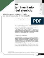 Obligación de levantar inventario al cierre del ejercicio. Cuándo se está obligado y cuáles son las consecuencias de no realizarlo.pdf
