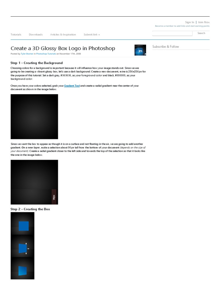 Create a 3d glossy box logo in photoshop tutorial9 adobe create a 3d glossy box logo in photoshop tutorial9 adobe photoshop perspective graphical baditri Images