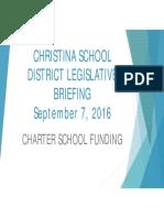 Christina School District Legislative Briefing
