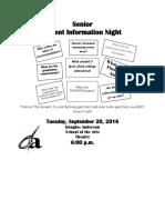 Senior Parent Night 1 Page