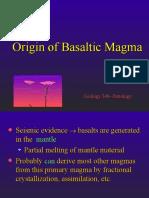 Chapter 10 - Origin of Basaltic Magma