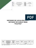 Informe de Localizacion y Estudio de Suelo Para