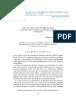 NUEVAS VARIACIONES SOBRE EL TEMA CULTURAL DE LA JUSTICIA CONSTITUCIONAL EN MÉXICO