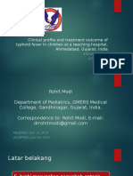 Clinical Profile and Treatment Outcome of Typhoid Fever