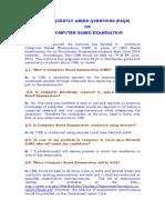 FAQ on Computer Based Examination
