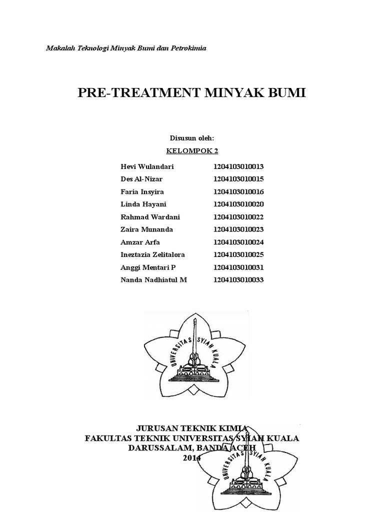 Pre treatment minyak bumi ccuart Choice Image