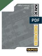 Manual de Usuario de la consola Tapco mix260fx