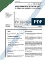 NBR 10819 NB 1148 Projeto e Execução de Piscina (Casa de Máquinas Vestiários e Banheiros)