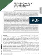 2. Exploración de Las Propiedades de Leche-Clotting de Un Coagulante de Planta de Las Bayas de S. Elaeagnifolium Var. Cavanilles(1)
