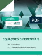 Equações Diferenciais - Introdução