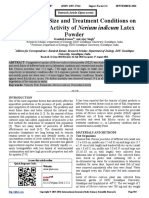 Effect of Fish Size and Treatment Conditions on the Piscicidal Activity of Nerium indicum Latex Powder