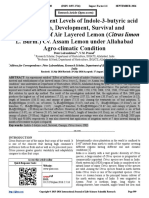 Effect of Different Levels of Indole-3-butyric acid on Growth, Development, Survival and Establishment of Air Layered Lemon (Citrus limon L. Burm.) Cv. Assam Lemon under Allahabad Agro-climatic Condition