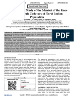 Morphological Study of the Menisci of the Knee Joint in Adult Cadavers of North Indian Population