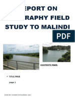 Report on Geography Field Study to Malindi