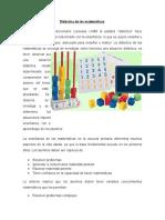 1.2 Didáctica de Las Matemáticas