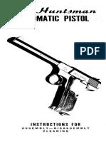 Colt Huntsman Automatic Pistol Instruction Manual