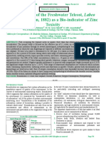 Potential Use of the Freshwater Teleost, Labeo  rohita (Hamilton, 1882) as a Bio-indicator of Zinc Toxicity