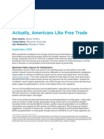 Survey Americans Like Free Trade
