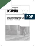 Jurisprudencia Fundamental Sobre Disposición de Un Bien Social Por Uno de Los Cónyuges