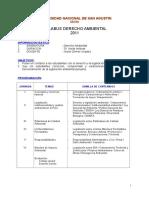 Silabus Derecho Ambiental 2011 2da. Especialidad