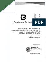 Informe de Benchmark Technologies sobre el sistema de telefonía en Cámara de Representantes de Puerto Rico.