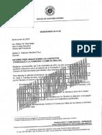 Borrador de Informe del Auditor Interno de la Cámara de Representantes sobre contratos otorgados a 3 Comm Global.