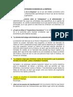 Cuestionario Economia de La Empresa