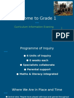 20160907 curriculum information evening