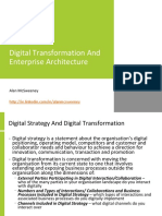 Digital Transformation and Enterprise Architecture