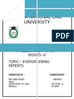 Evergreening Patent - Ipr