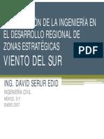 Participacion de La Ingenieria en El Desarrollo Regional de Zonas Estrategicas