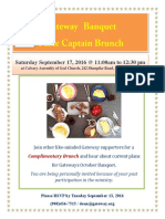 Brunch Table Captain 2016 Invitation
