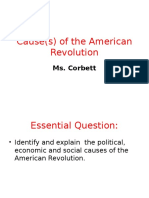 cause s  of the american revolution