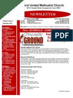 Newsletter for September 2016