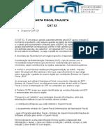 Nota Fiscal Paulista Cat52