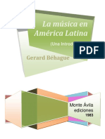 La Musica en America latina, G. Behague[1]