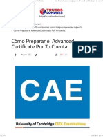 Cómo Preparar El Examen Del Advanced (CAE) Por Tu Cuenta
