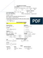 Statistics Probability Midterm Cheat Sheet