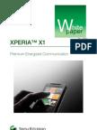 Sony Ericsson XPERIA X1 White Paper (Release 3)