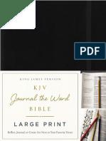 KJV Journal the Word Large Print