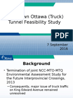 Ottawa Downtown Truck Tunnel - September 7th Presentation to TC