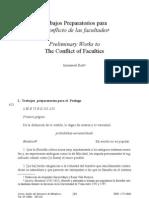 Kant-Trabajos preparatorios al Conflicto de las Facultades