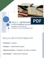 Aula 4 Quimiossistema-tica e Etnofarmacologia